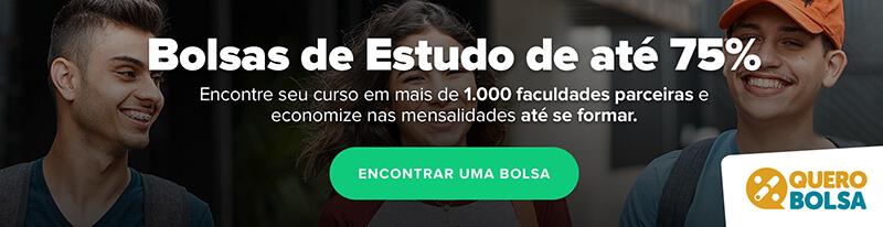bola de estudos de até 75% no site Quero Bolsa